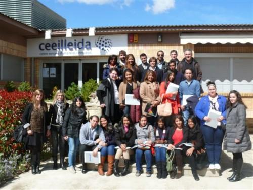 Los alumnos de Next visitan Lleida