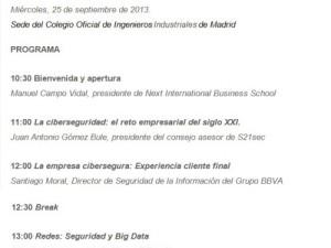 """Next IBS y S21sec organizan el plenario """"El impacto de la ciberseguridad en los negocios"""""""
