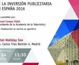 Manuel Campo Vidal conduce la presentación del Estudio Infoadex Anual sobre Inversión Publicitaria