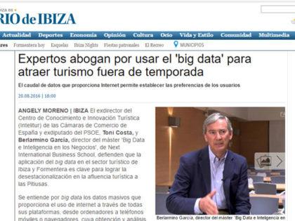 Profesores de Next IBS, expertos en Big Data, aportan soluciones para el turismo de Ibiza