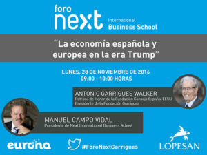 Antonio Garrigues Walker es el próximo invitado del Foro Next IBS