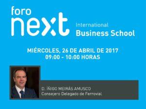 El próximo Foro Next IBS contará con Íñigo Meirás, consejero delegado de Ferrovial