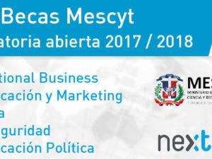 El MESCyT ofrece 30 becas para estudiar en Next IBS