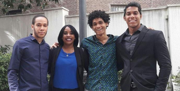Yodaris Montero, Iván Reynoso, Andrey Carela y Rodolfo Mejía