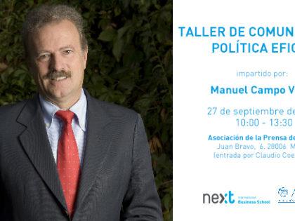 """Campo Vidal imparte el taller """"Comunicación Política Eficaz"""" en la APM"""