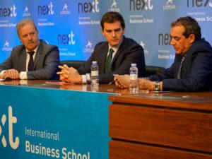 Albert Rivera, presidente de Ciudadanos, en el Foro Next IBS