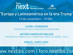 Leonel Fernández y Antonio Garrigues participarán en el próximo Foro Next IBS