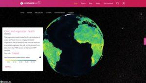 Vizzuality permite visualizar los datos de manera interactiva.