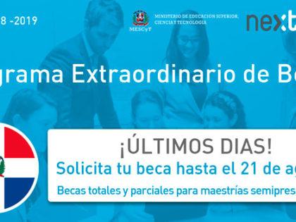 Next IBS y el MESCyT publican 14 becas para estudiantes dominicanos