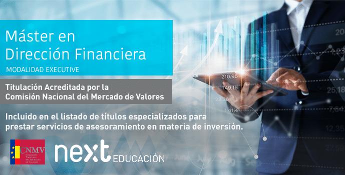 La CNMV acredita el Máster en Dirección Financiera de Next IBS
