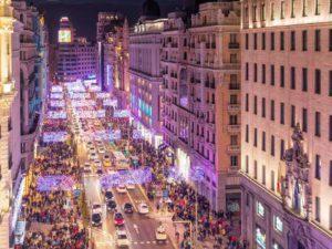 El encendido de las luces de Navidad, un atractivo turístico para muchas ciudades