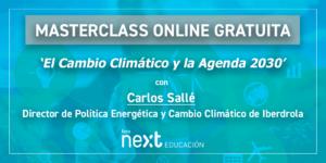 MasterClass Gratuita con Carlos Sallé sobre el cambio climático