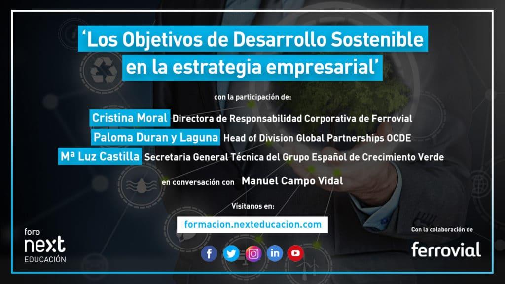 Foro Next - Los Objetivos de Desarrollo Sostenible en la Estrategia Empresarial