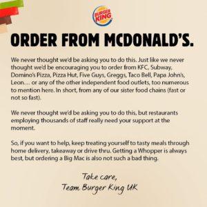Mc Donalds vs Burger King, la guerra del Marketing Digital